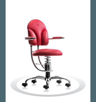 Sedia ortopedica rosso R303 crom