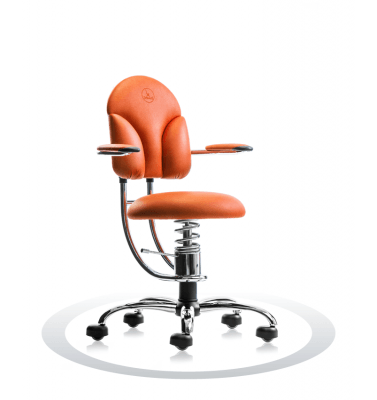 Sedia ortopedica arancione R201 crom