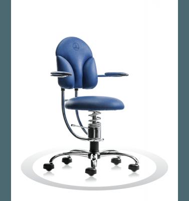 Sedie ortopediche blu savoia R502 crom