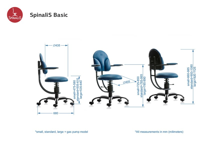 Sedia ortopedica spinalis basic